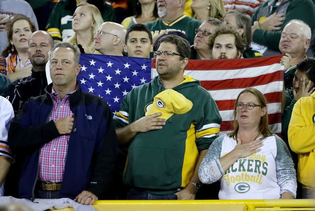 Anthem Protests, Patriotism at Lambeau Field