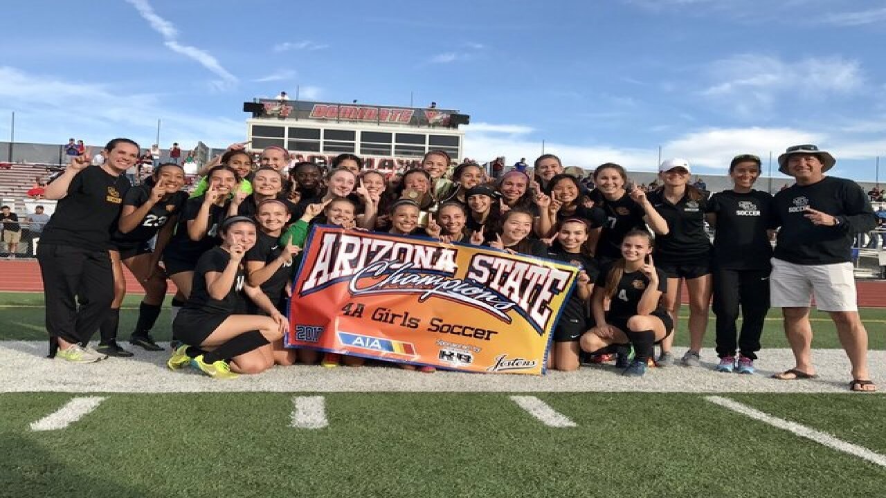 Salpointe socccer competes for 4A state title