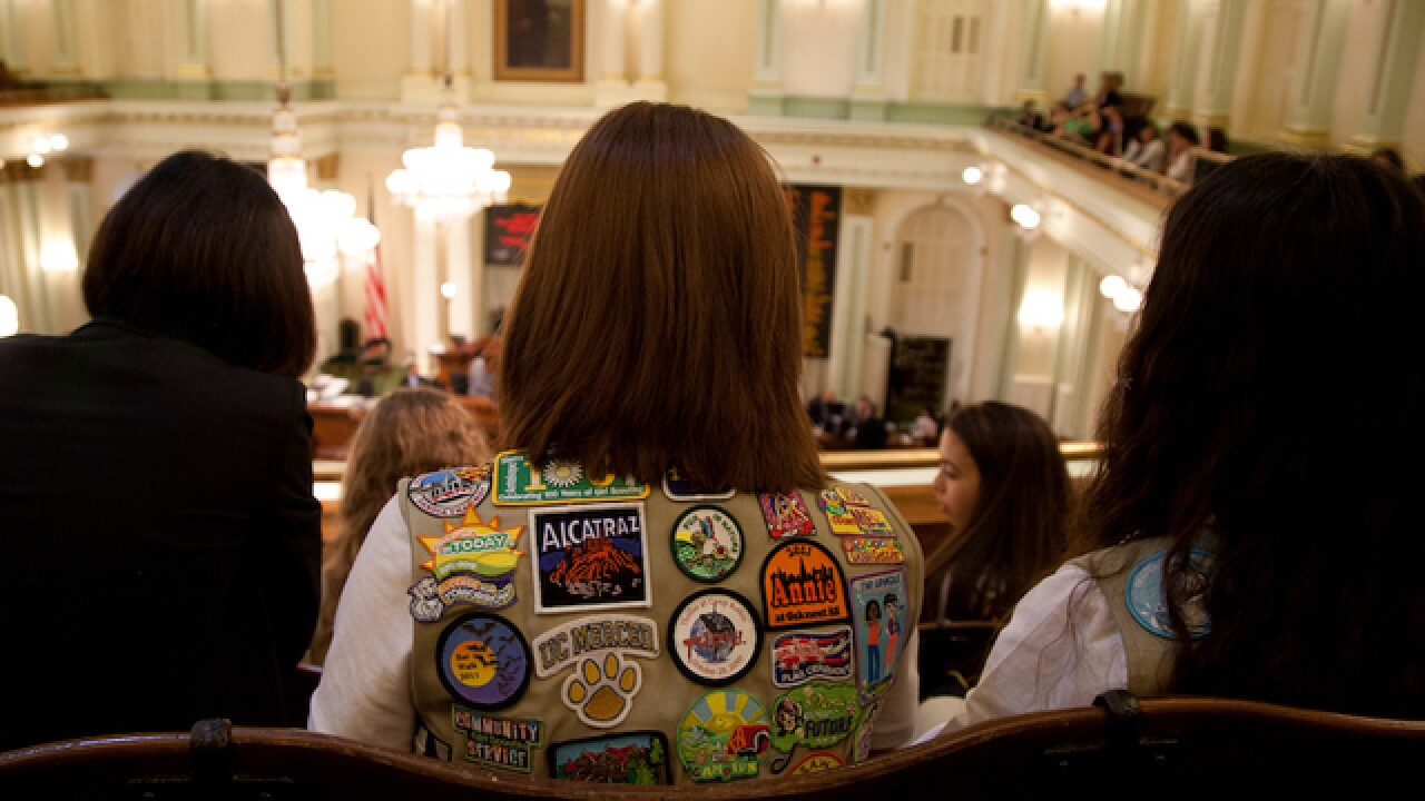Girl Scouts put out warning about requiring daughters to hug relatives