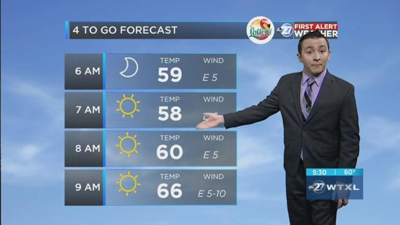First Alert 4-to-Go Forecast: May 1, 2018