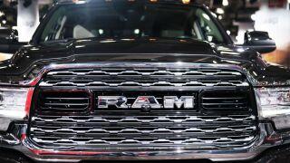 RAM truck logo front end