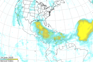 Saharan Dust plume June 24