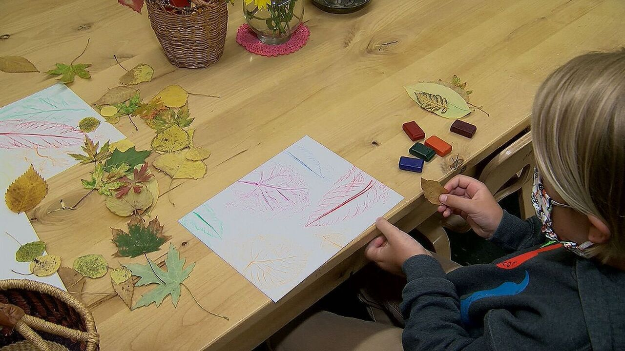 Making Crayon-Pressed Fall Leaves: We are sharing some fall-inspired recipes and art projects for kids.