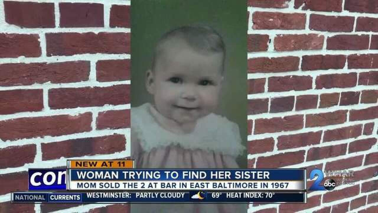 SISTER FOUND: Woman finds her sister after mom sells them at bar over 50 years ago