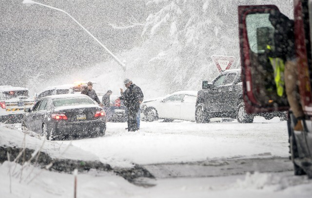 PHOTOS: Another major nor'easter blasts east coast and we're thankful we live in Florida