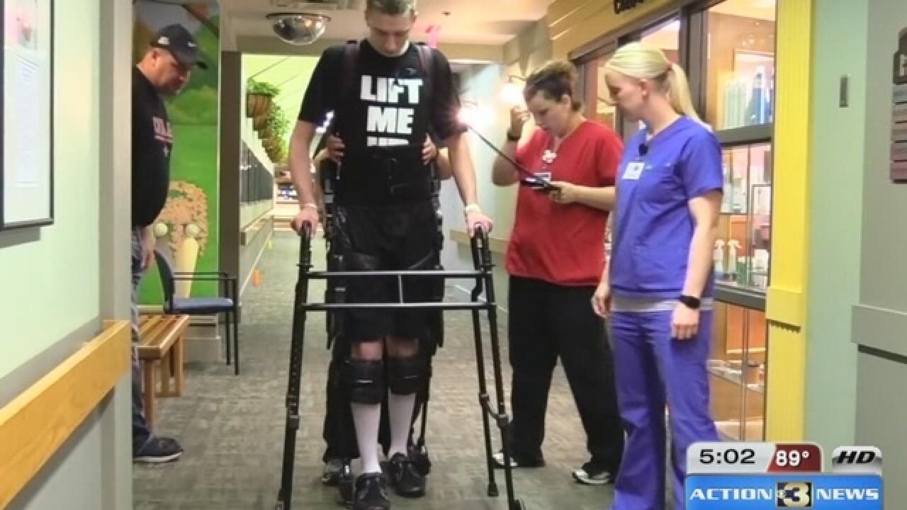 Local high school athlete learns to walk again