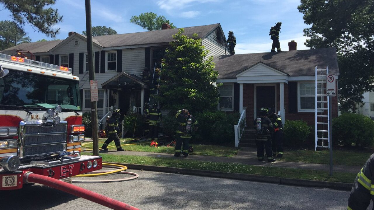 No injuries reported after Newport News townhouse fire