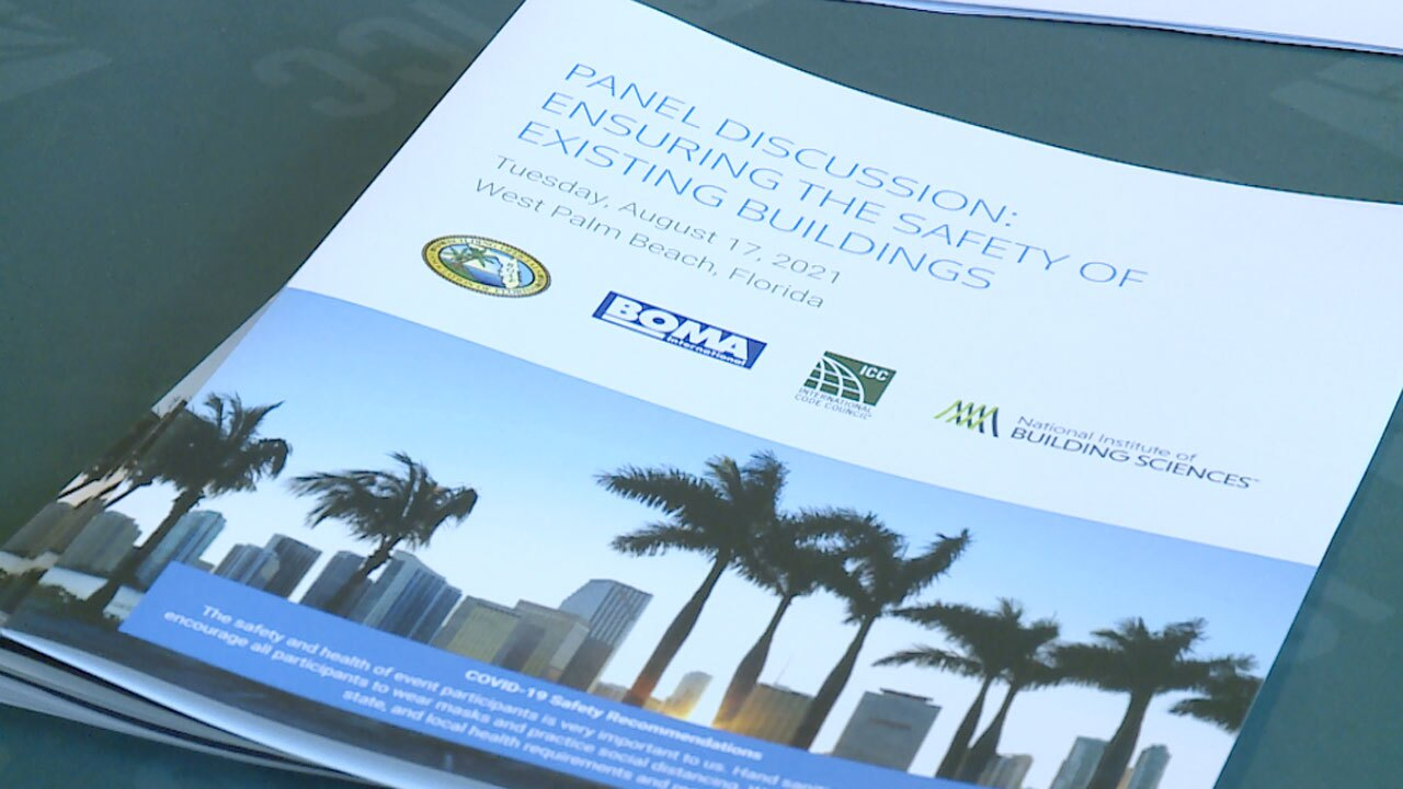 Building safety meeting in West Palm Beach on Aug. 17, 2021