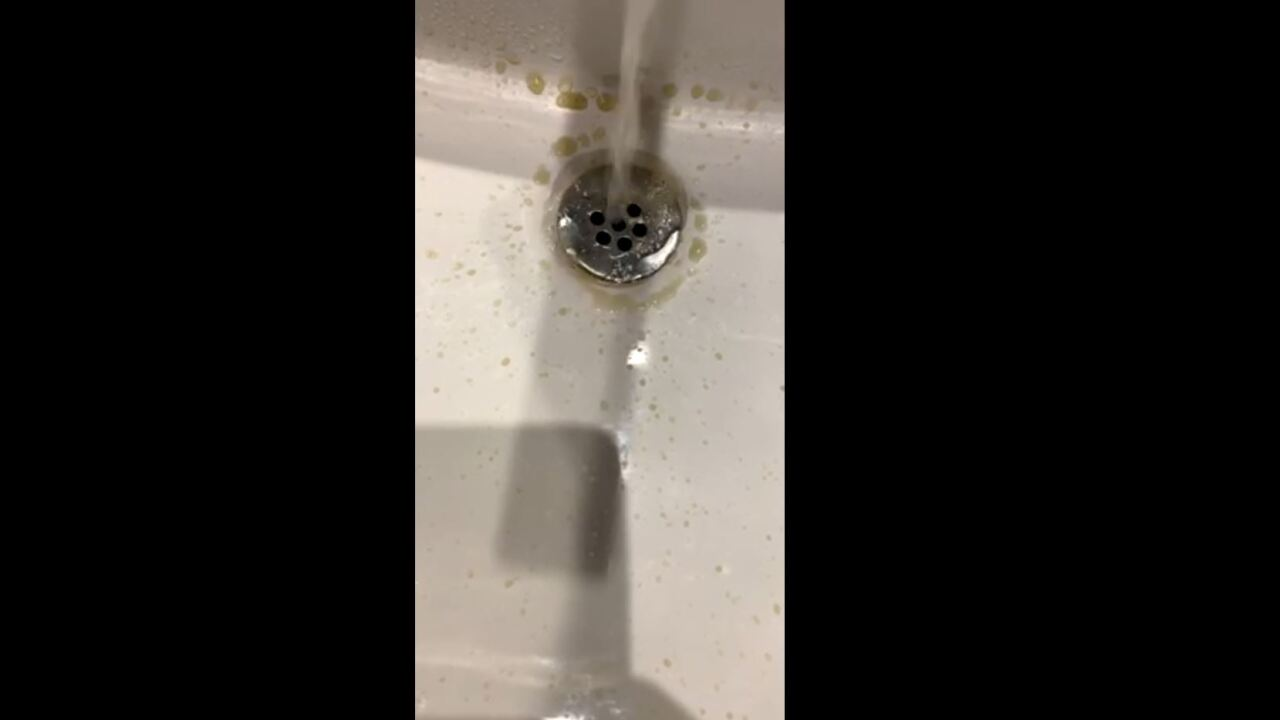 A guest staying at Aria on the strip says he was startled after strange colored water came flowing out of the tap in his hotel room