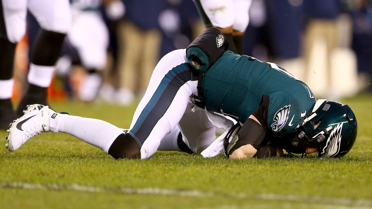 Eagles wonder 'what if?' after Carson Wentz knocked out with injury