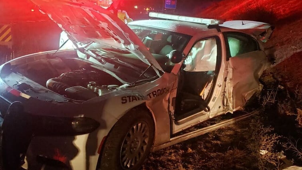 DUI suspect strikes UHP trooper's patrol car on New Year's Day