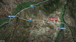 Woman dead, man injured in rollover crash near Hardin