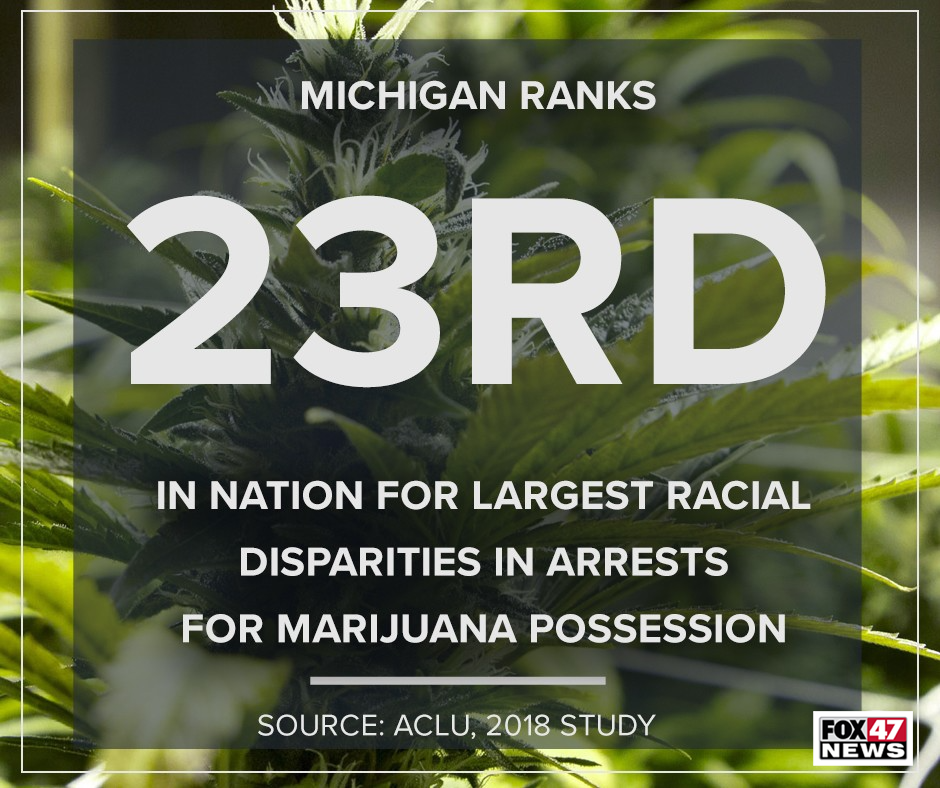 Michigan ranks 23rd in the nation for largest racial disparities in arrests for marijuana possession
