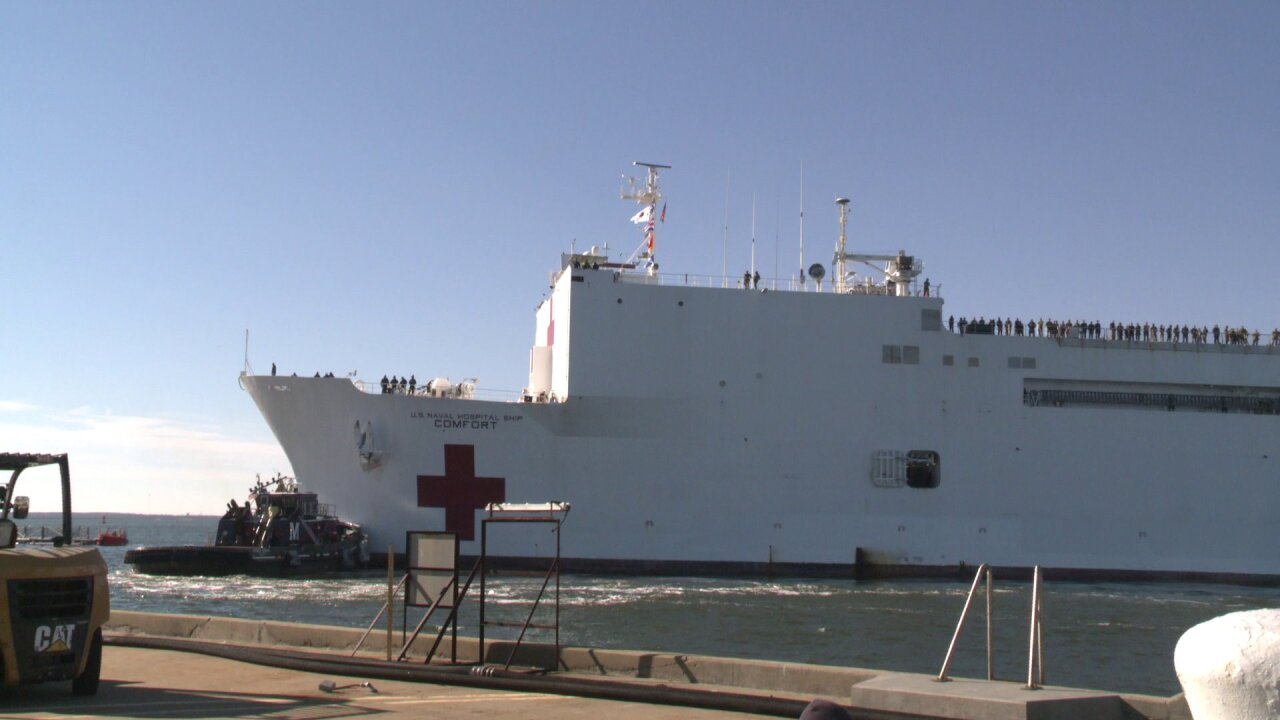 Hospital ship returns to Norfolk after completing mission in South and CentralAmerica
