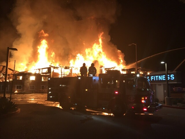 Photos: Three-alarm fire at care facility under construction in N Phoenix