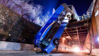 MTA bus drives off Bronx overpass