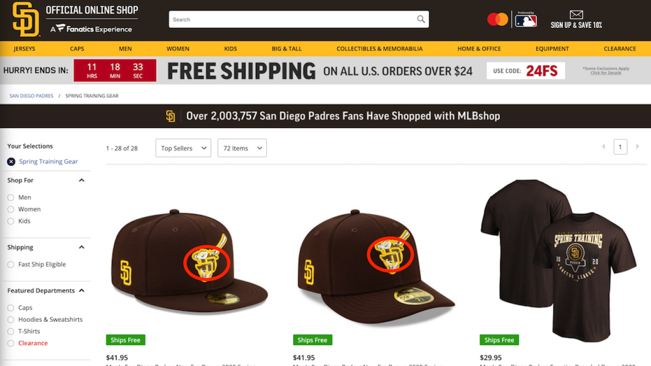 Padres announce cap change after critics say new design resembled swastika