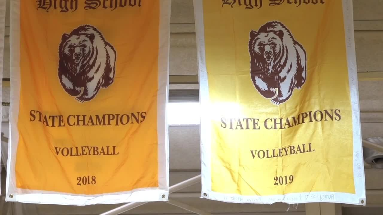 Helena Capital volleyball banners