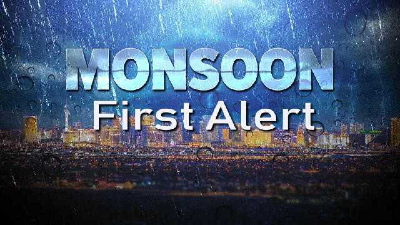 MONSOON FIRST ALERT: Increase in shower, storm activity over