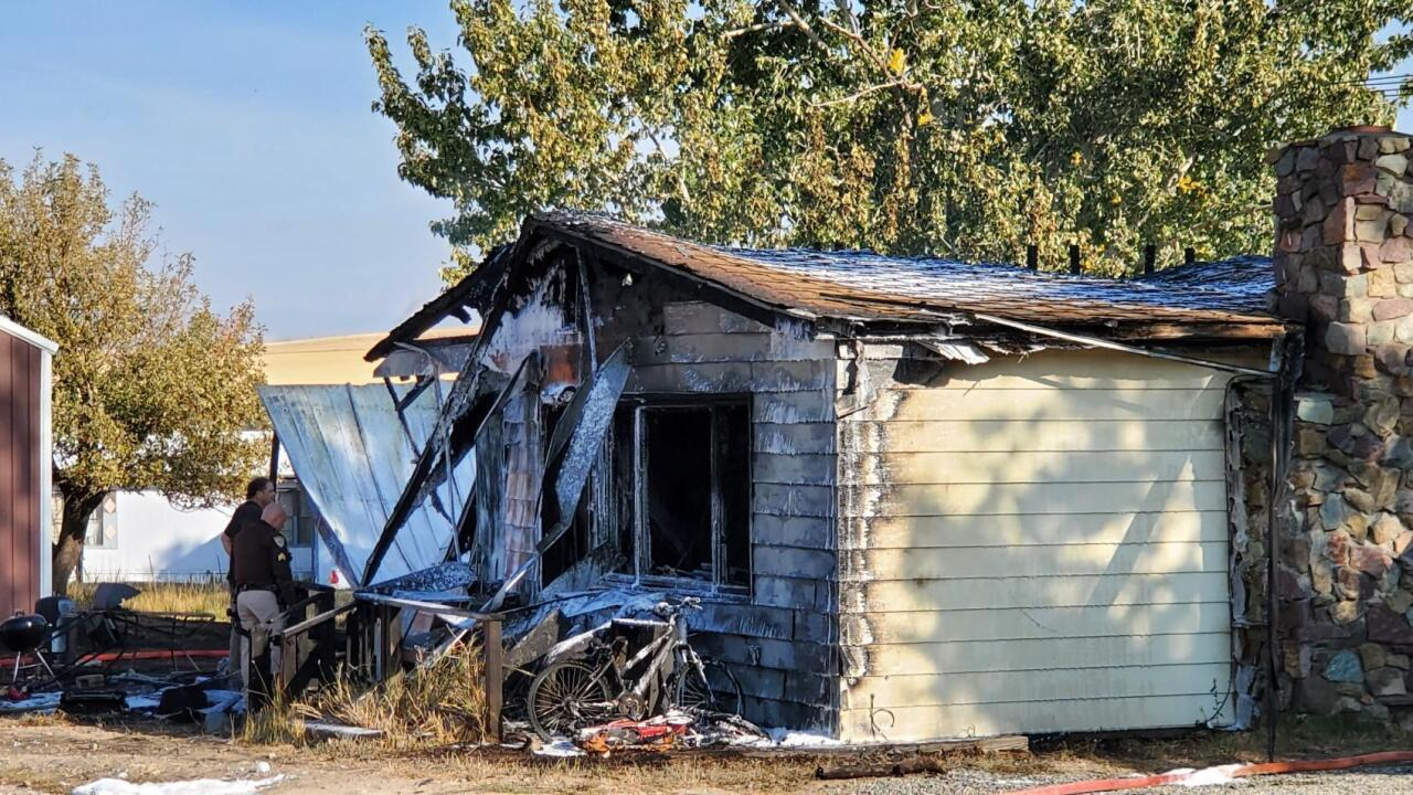 Fire destroys home in East Helena