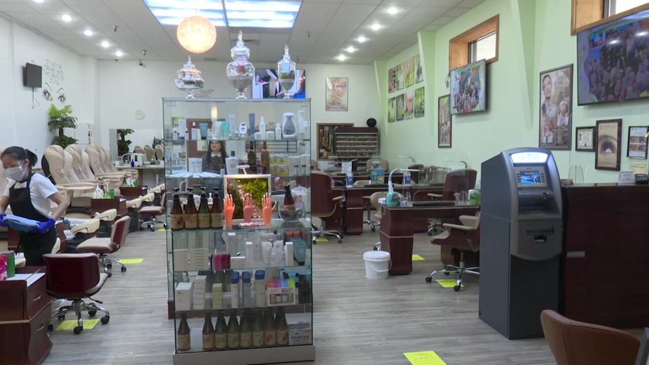 Nail salon re-opens with enhanced safety and sanitization procedures