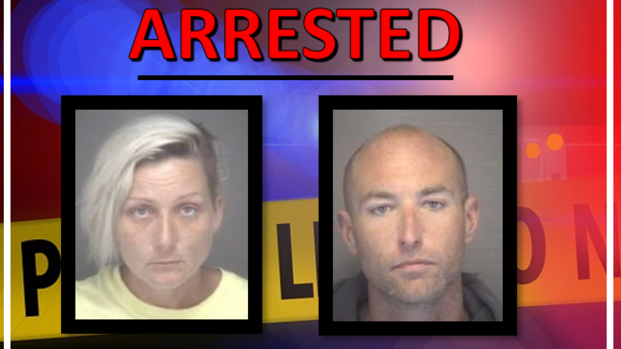 Couple arrested on larceny charges in Kitty Hawk