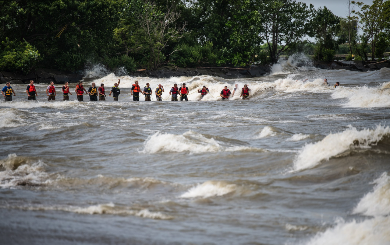 Huron water rescue