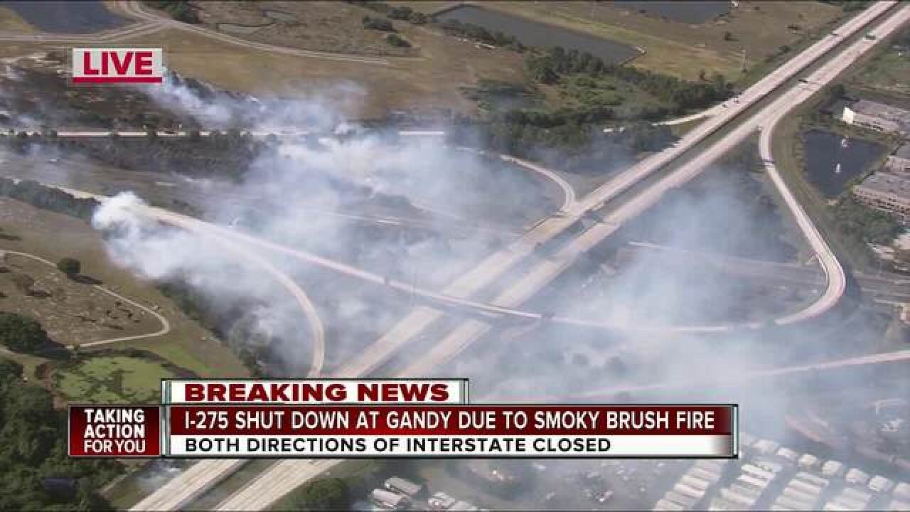 PHOTOS: Brush fire closes I-275 and Gand