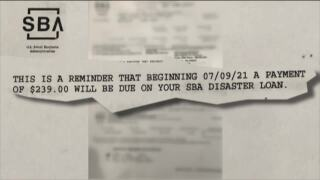 Small Business Administration reminder of $239 disaster loan payment