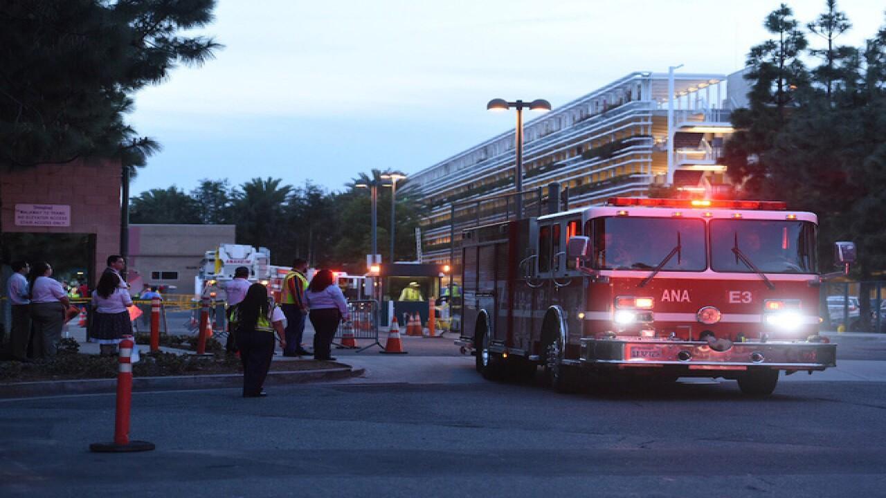 8 cars catch fire in Disneyland parking garage