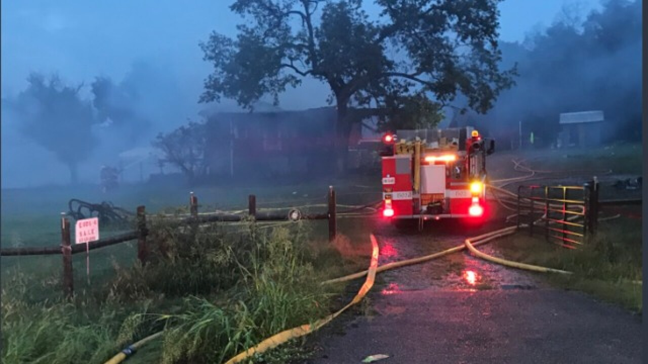 Family Escapes N. Rutherford Co. House Fire