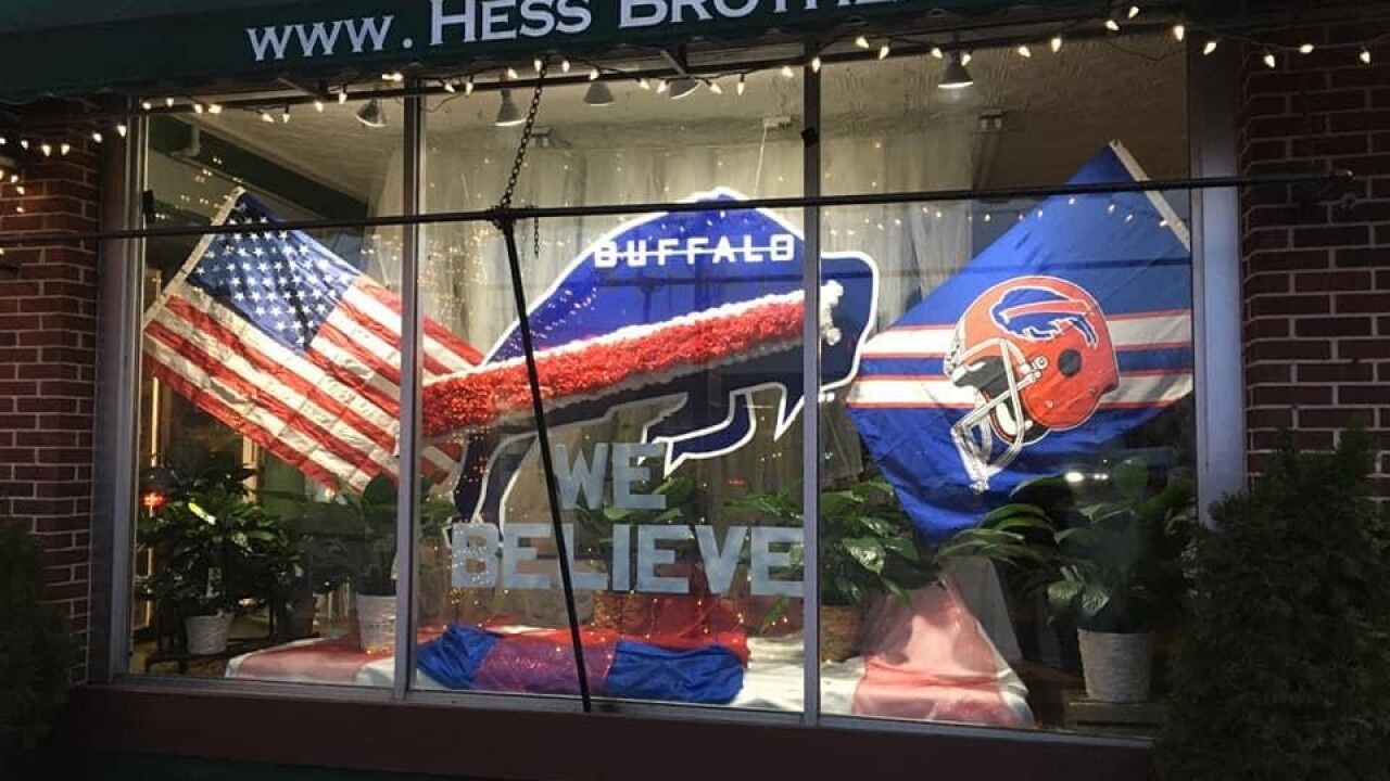 Hess Brothers Florist in Hamburg is dusting off the old display to celebrate the Bills success
