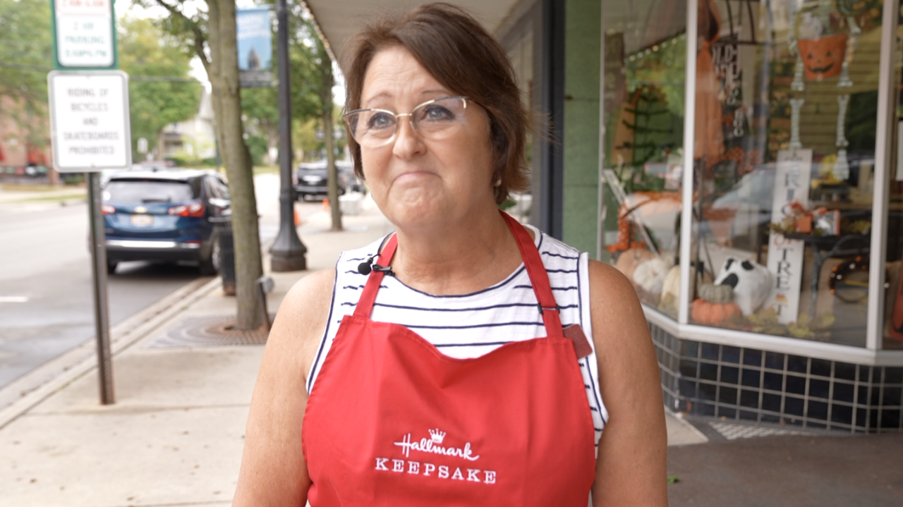 Teresa Wren, owner of Kean's Store Company in Mason