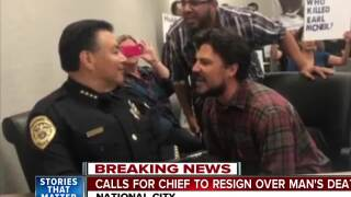 Calls for chief to resign over man's death