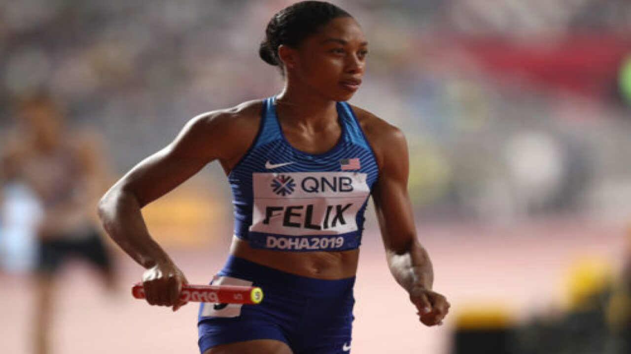 Allyson Felix Just Broke Usain Bolt's Record For Number Medals Won—just 10 Months After Giving Birth