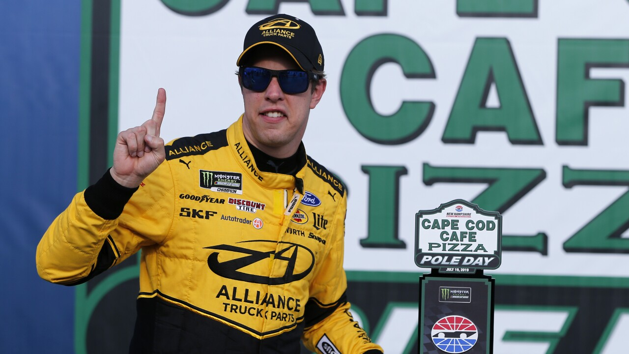 Brad_Keselowski_Monster Energy NASCAR Cup Series Foxwoods Resort Casino 301 - Qualifying