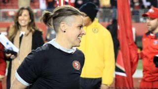 Katie Sowers at NFC Championship - Green Bay Packers v San Francisco 49ers