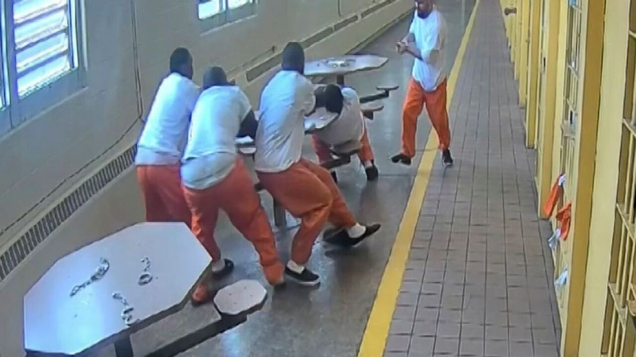 Video shows brutality of knife attack on helpless inmates in