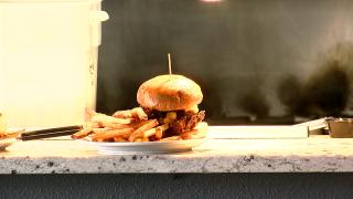 Burger at Colorado + 49 Cidery and Pub