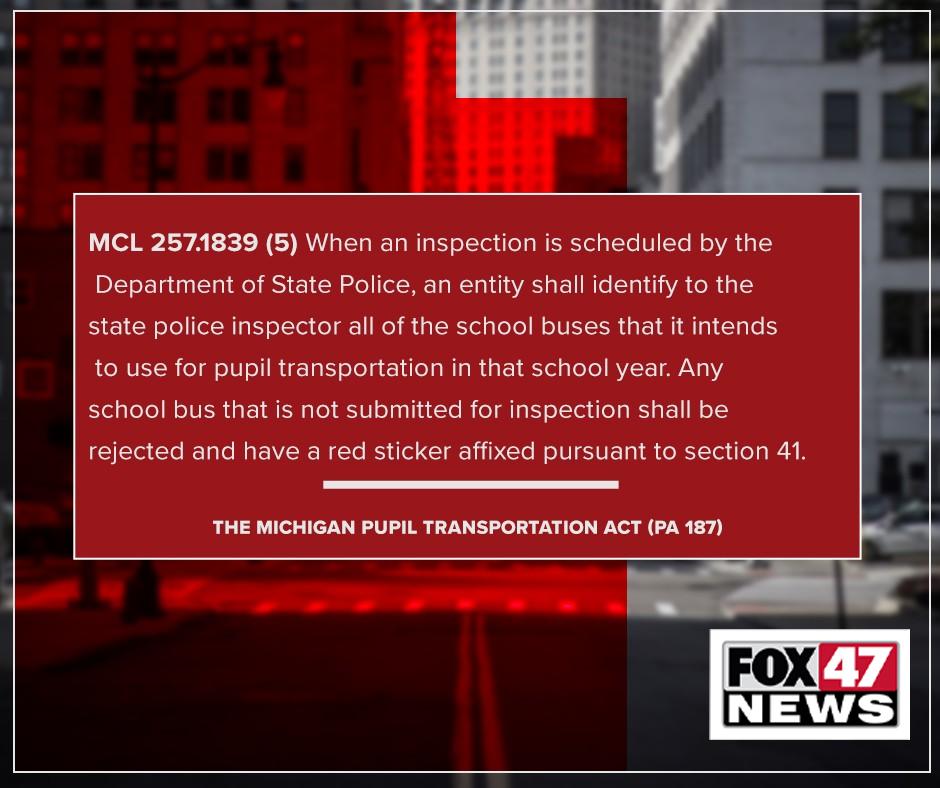The Michigan Pupil Transportation Act