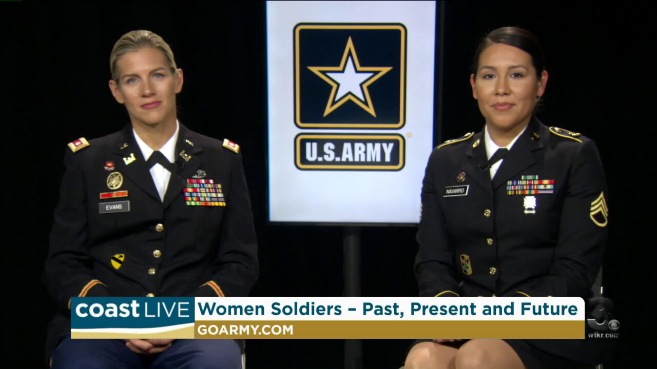 Women balancing professional and personal lives while serving in the military on CoastLive