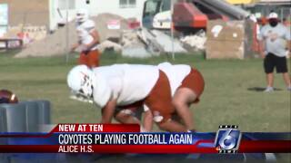 Alice Coyotes excited to be playing football again