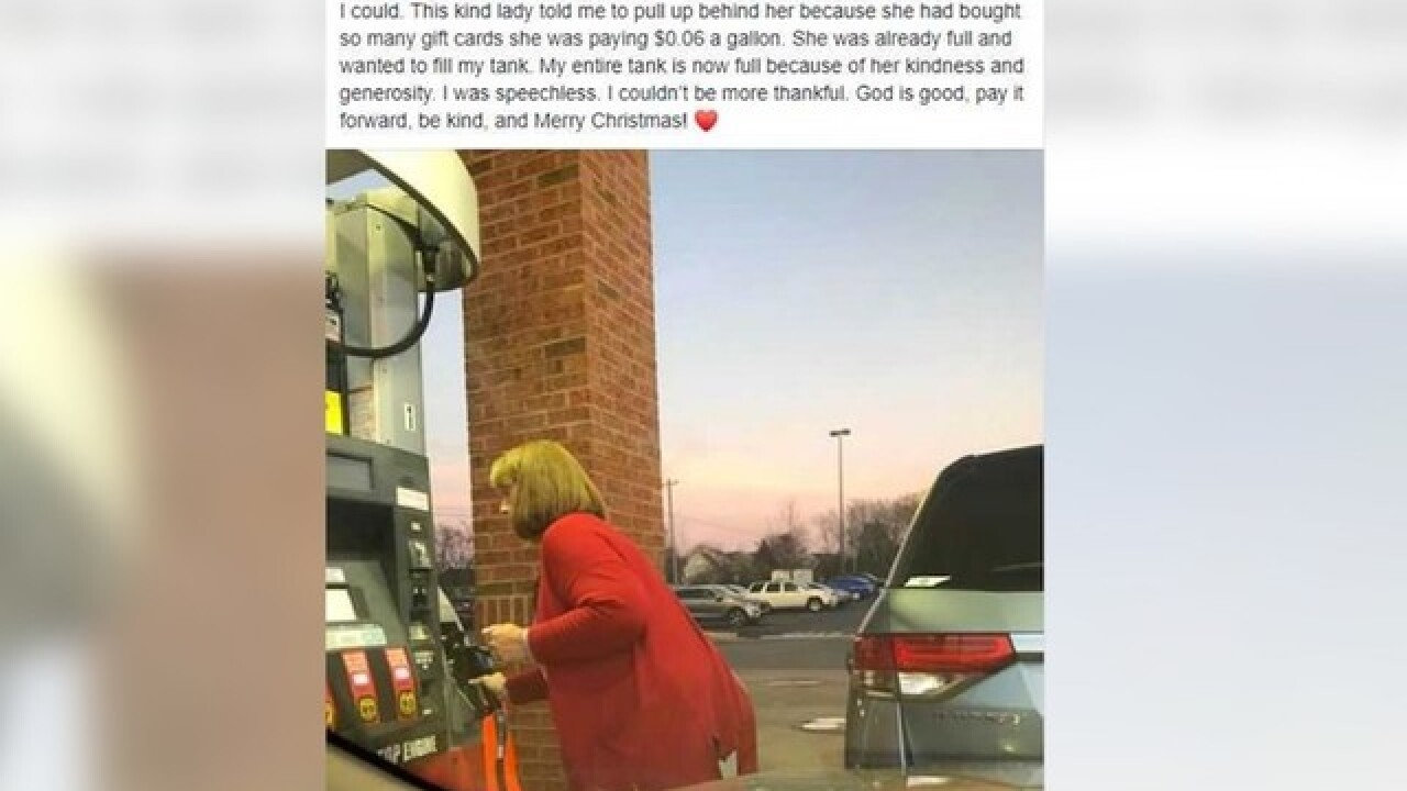 Kind stranger pays for struggling teacher's gas