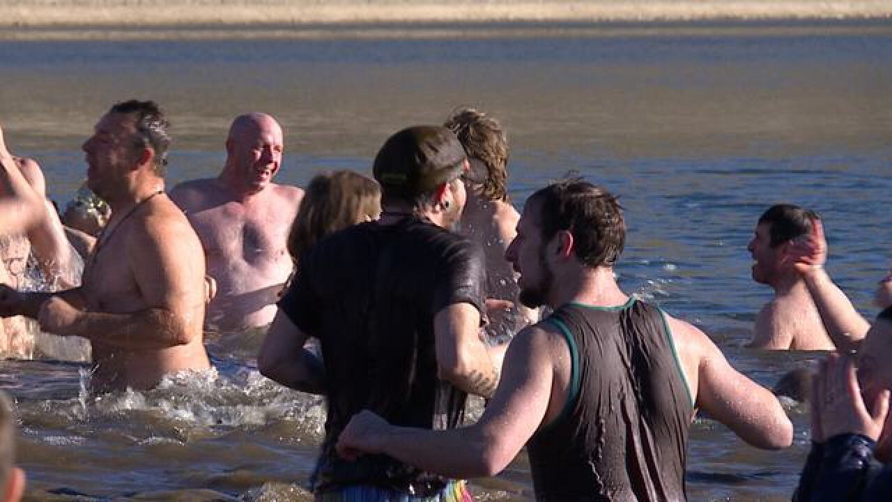 Cold water, warm hearts at Polar Bear Challenge