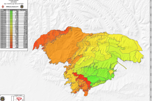Pine Gulch Fire progression map Aug 28 2020