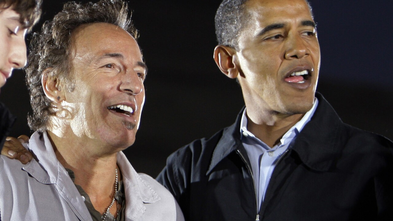 Bruce Springsteen, Barack Obama, Sam Obama