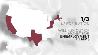 Highly populated states likely will run out of money to fund unemployment benefits
