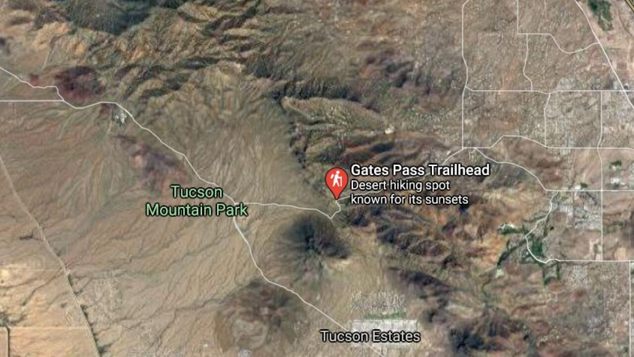 A man was seriously injured Sunday in a wreck on Gates Pass Road. Photo via Google Maps.