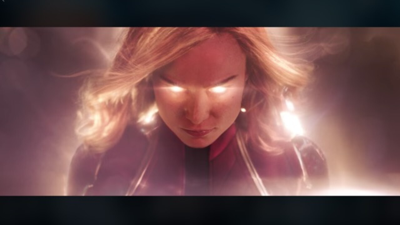 Watch the first trailer for 'Captain Marvel' in theaters March 8, 2019