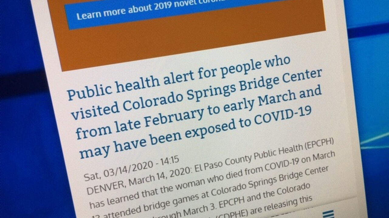 El Paso County Issues Public Health Alert After Linking Covid 19 Victim To 100 Card Players